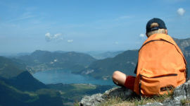 Kurz vor dem Gipfel, Blick zum Wolfgangsee