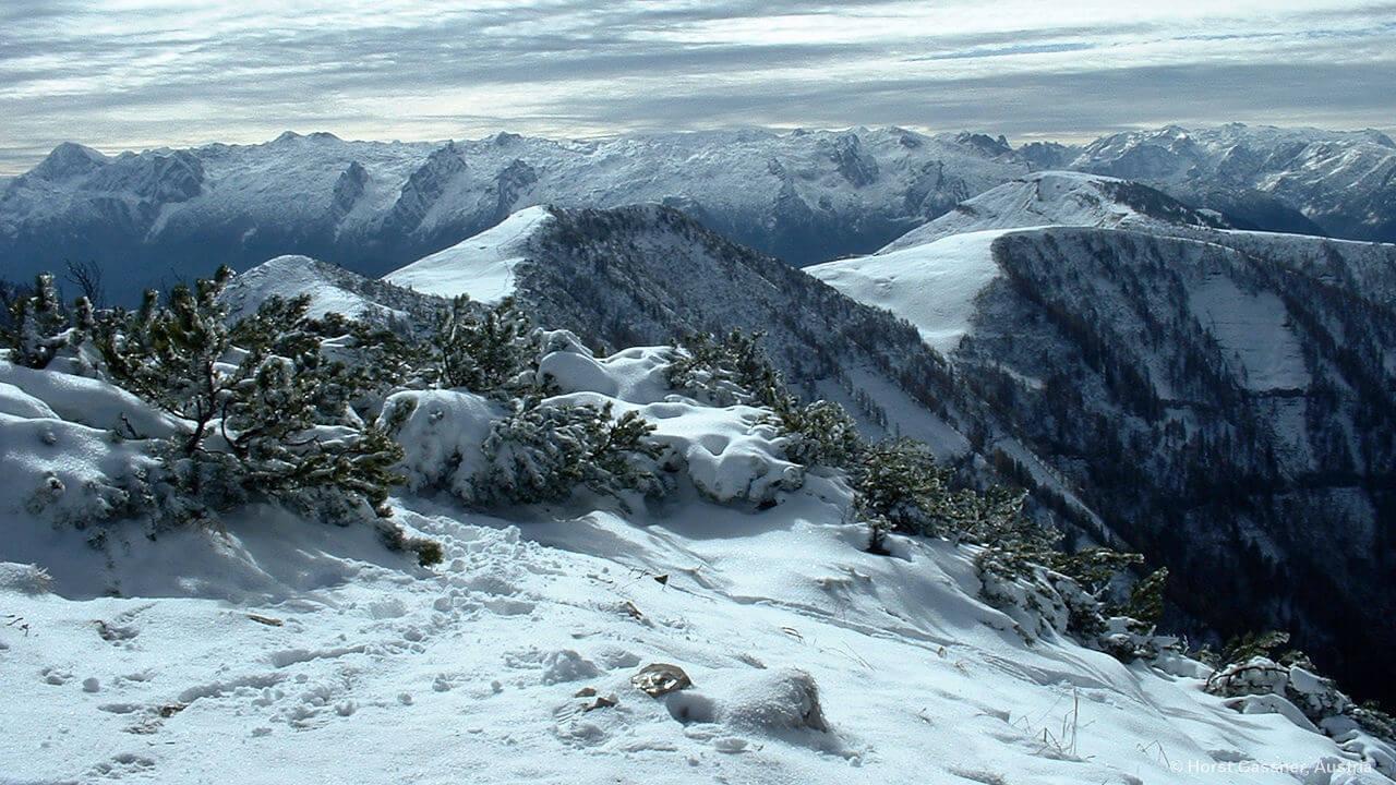 Am Gipfel des Gruberhorn, Osterhorngruppe