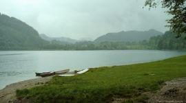 Vorteil bei Schlechtwetter - man hat den See für sich