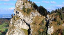 Blick zum Nockstein auf dem Weg in Richtung Gaisberg