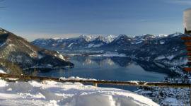 Blick vom Gipfel über den Wolfgangsee