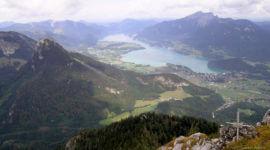 Am Gipfel des Rettenkogel, Blick zum Wolfgangsee