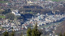 Salzburg vom Gaisberg, Festung und Altstadt