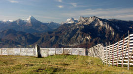 Watzmann und Untersberg vom Gaisberg aus gesehen