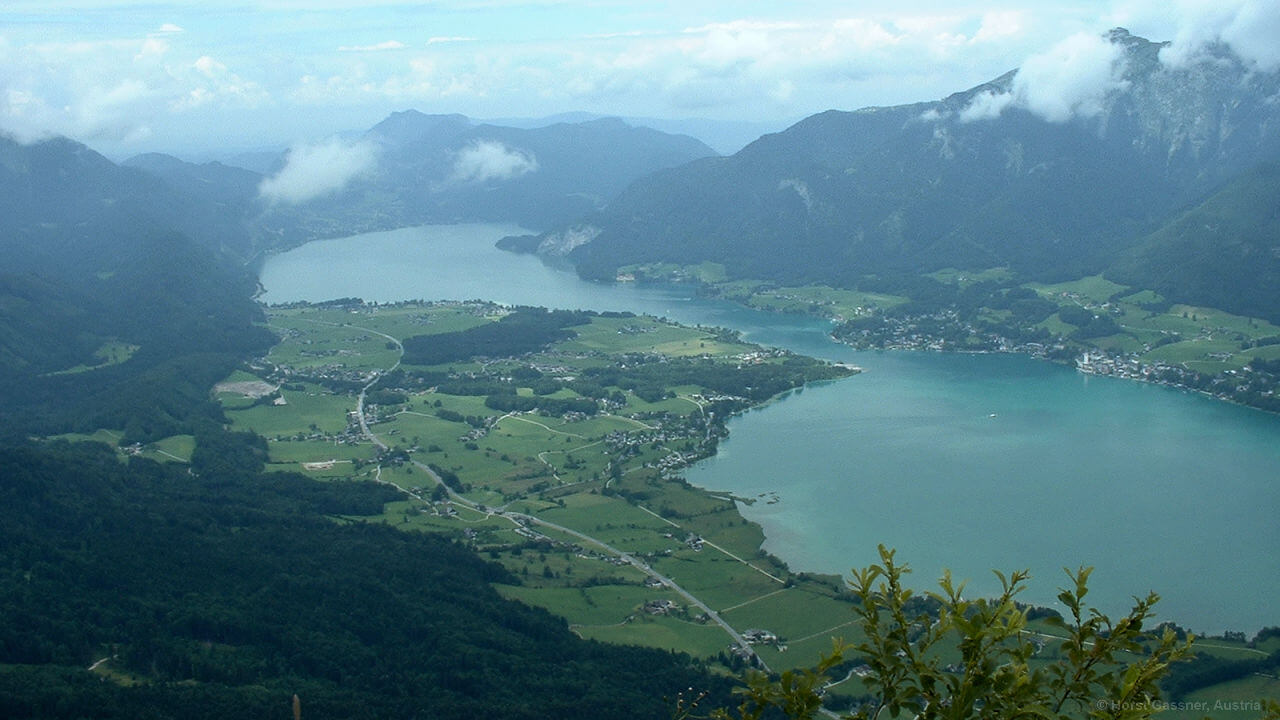 Blick in Richtung Wolfgangsee
