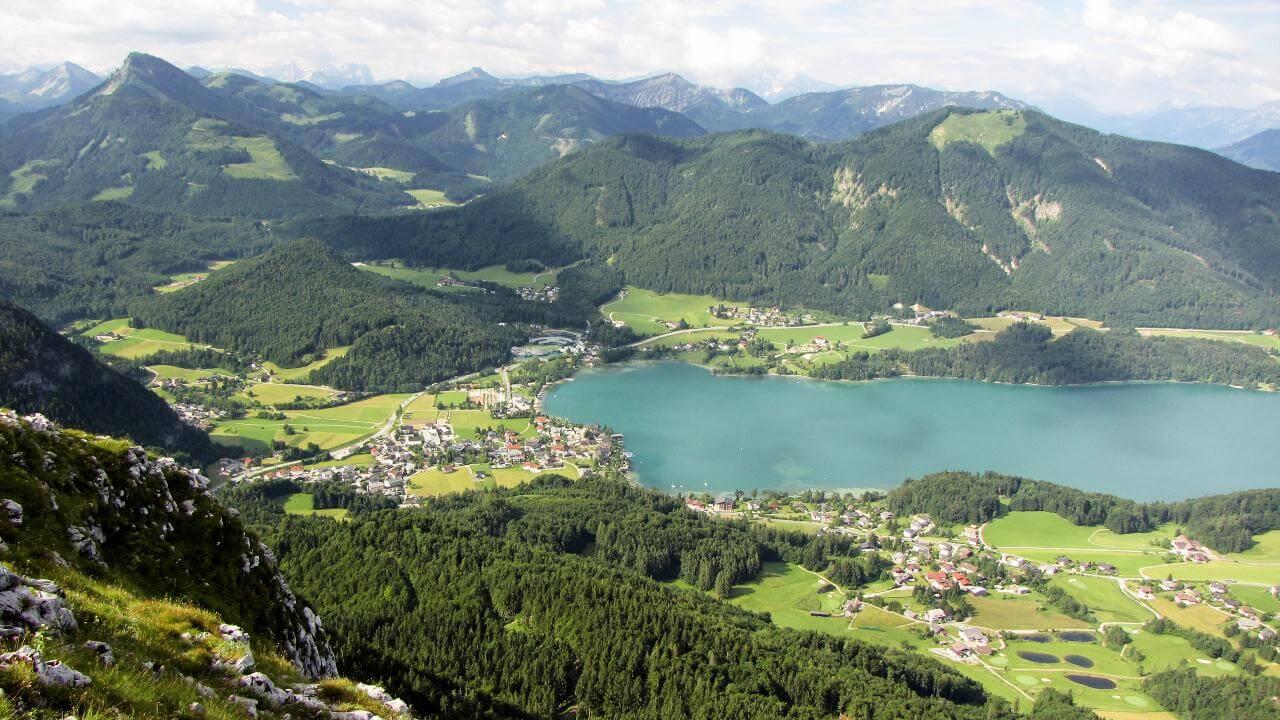 Blick nach Fuschl am See