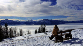 Blick übers Nebelmeer