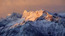 Erste Sonnenstrahlen auf den Untersberg, aufgenommen vom Gaisberg aus
