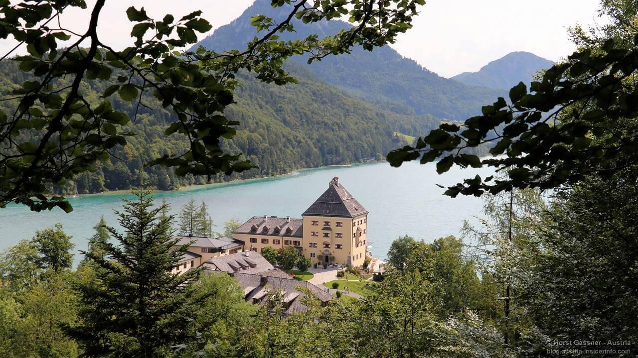 Schloss Fuschl von der Aussichtsplattform