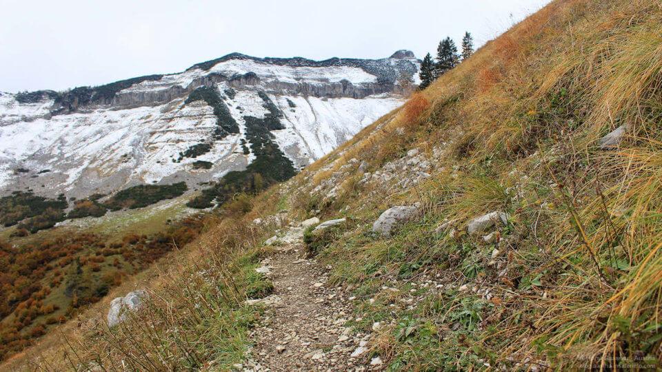 Wanderung auf das Gennerhorn: Weg zum Gennersattel