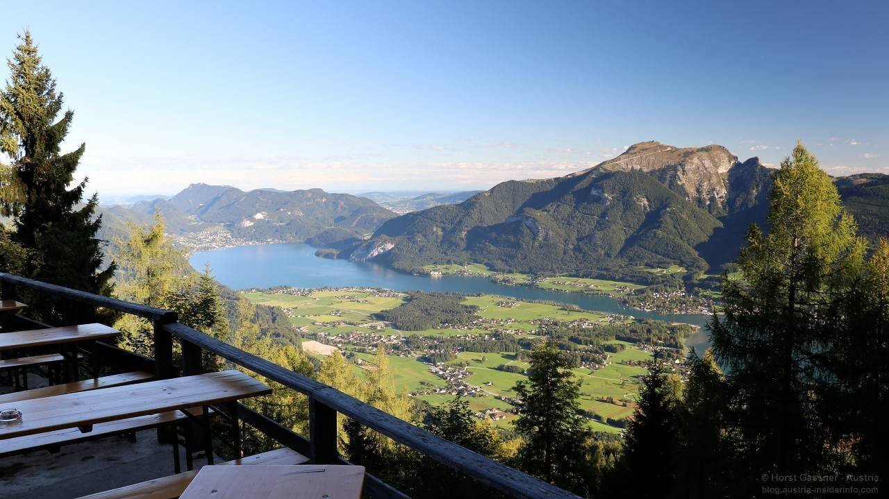 Bleckwandhütte - Ausblick über Wolfgangsee