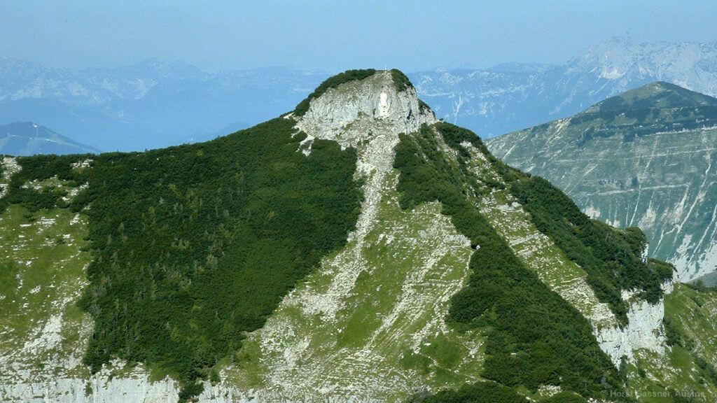 Am Gipfel des Gennerhornes - Blick hinüber zum Gruberhorn