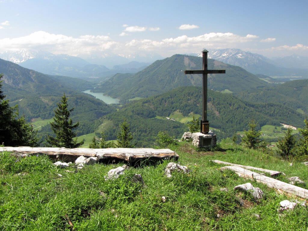 Gipfel im Sommer, Blick zum Wiestalstausee