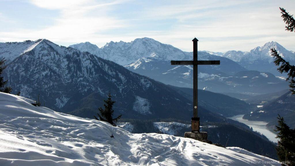 Herrlicher Ausblick am Gipfel des Lidauns