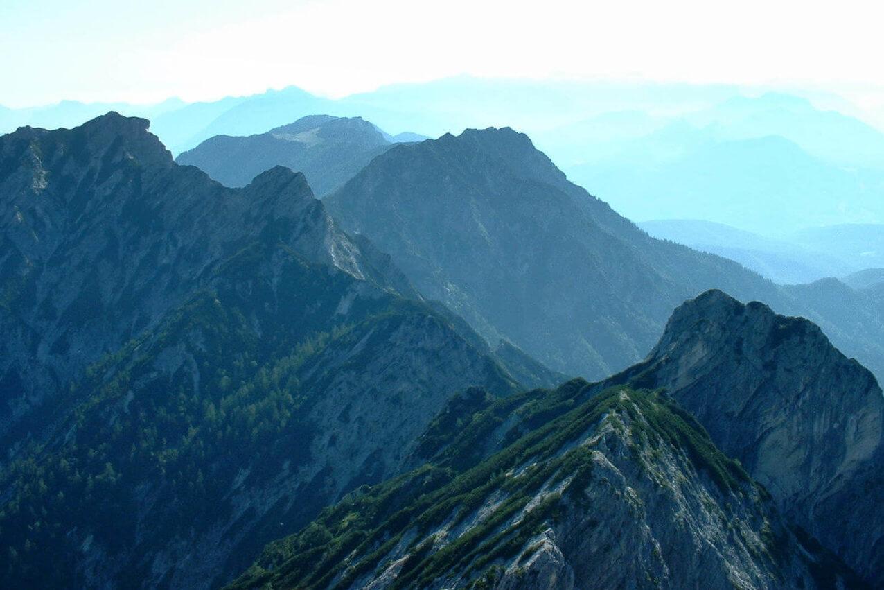 Wanderung Rinnkogel - Ausblick am Gipfel