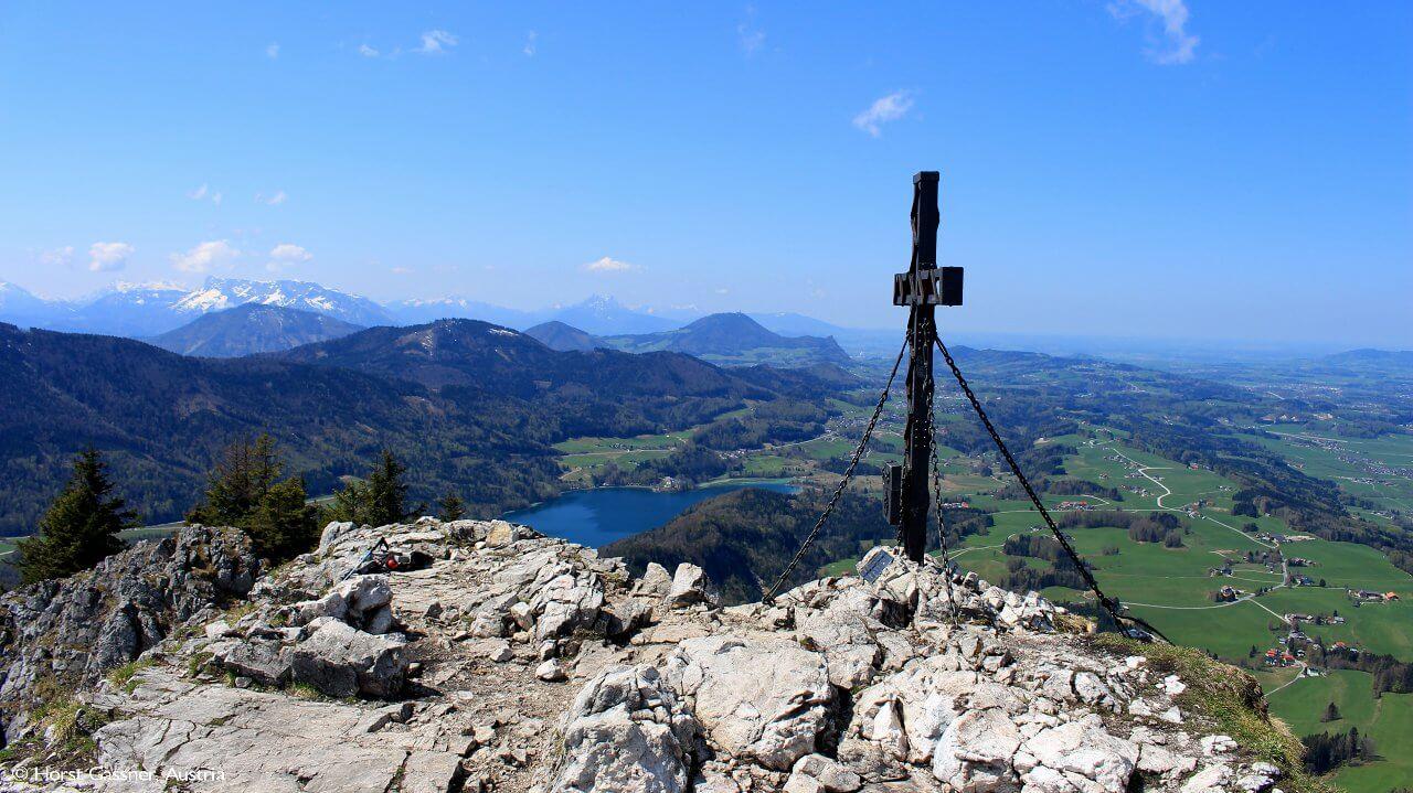 Am Gipfel des Schober, Blick in Richtung Fuschlsee