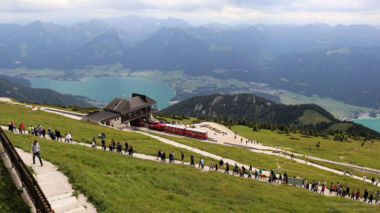 Die Bergstation der Schafbergbahn
