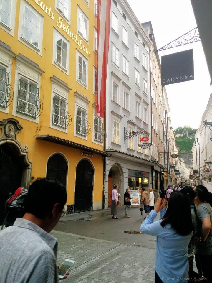Mozarts Geburtsthaus in der Getreidegasse