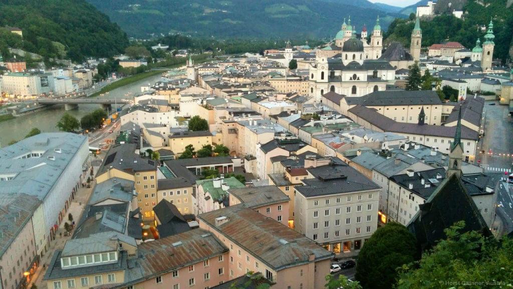 Stadtrundgang durch Salzburg - Salzburg vom Mönchsberg
