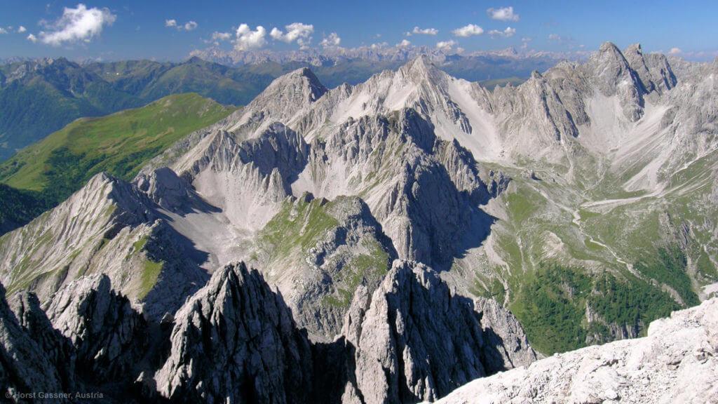 Dreitörlweg und Hochstadel - das Panorama vom Gipfel des Hochstadels
