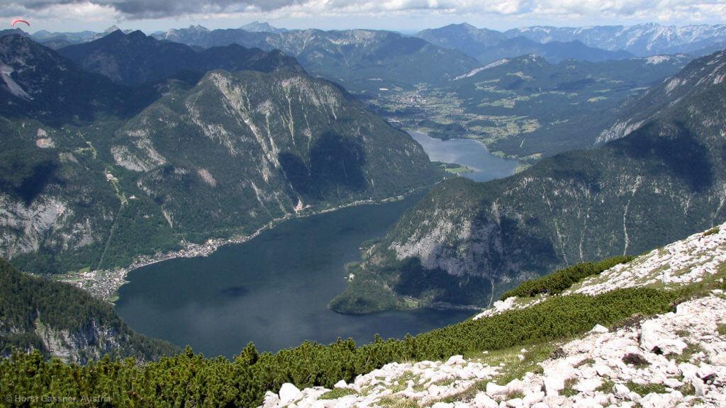Der Hallstättersee von oben (Dachstein / Krippenstein)