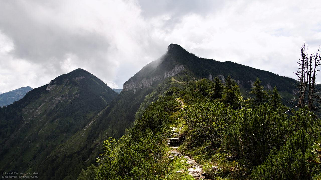 Rundtour Osterhorngruppe - Blick zum Gruberhorn