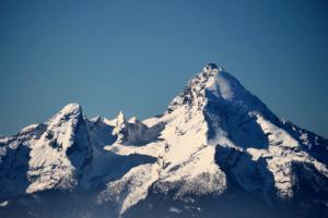Blick zum Watzmann ins Berchtesgadener Land