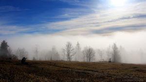 Nebel zieht über den Gipfel