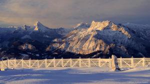 Blick zu Watzmann und Untersberg