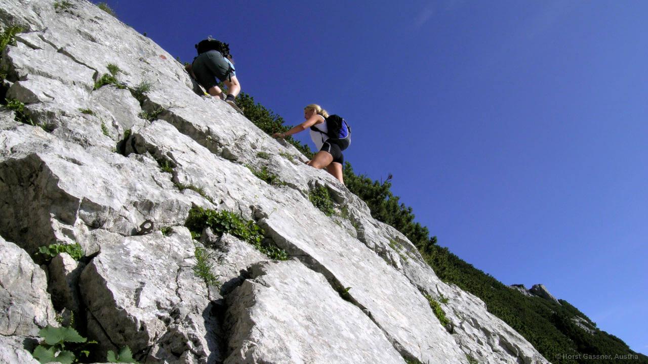 Aufstieg zum Hochkalter - Kletterei im zweiten Grad