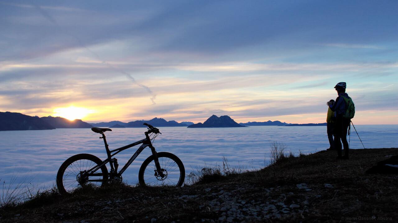 Mit dem Fahrrad am Gaisberg - von da kann man gut die Milchstraße fotografieren