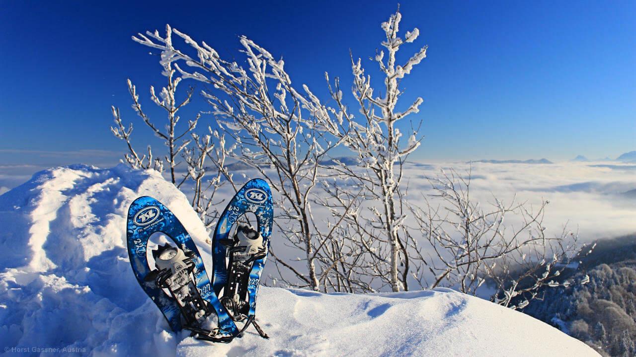 Nockstein mit Schneeschuhen