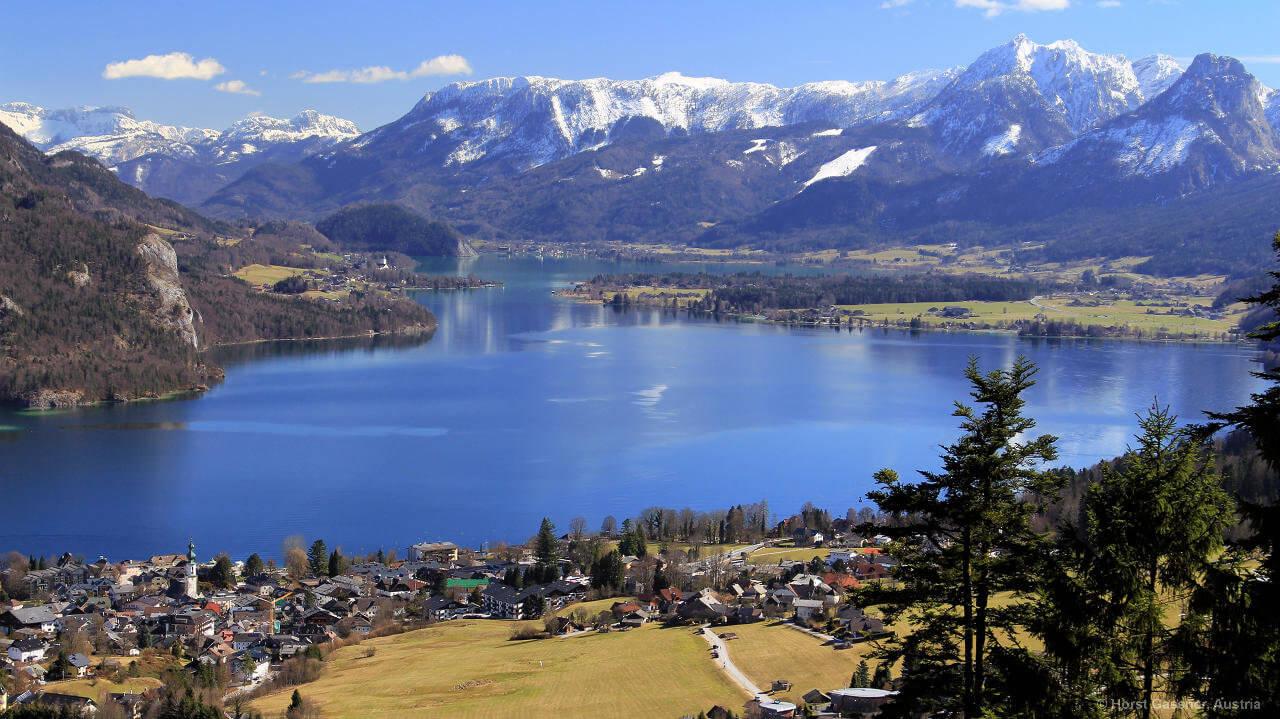 Mozartblick - geniale Aussicht über den Wolfgangsee