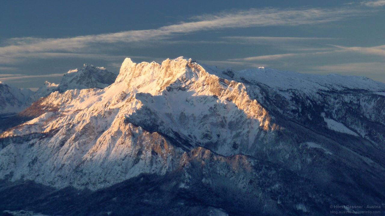 Der Untersberg im Morgenlicht