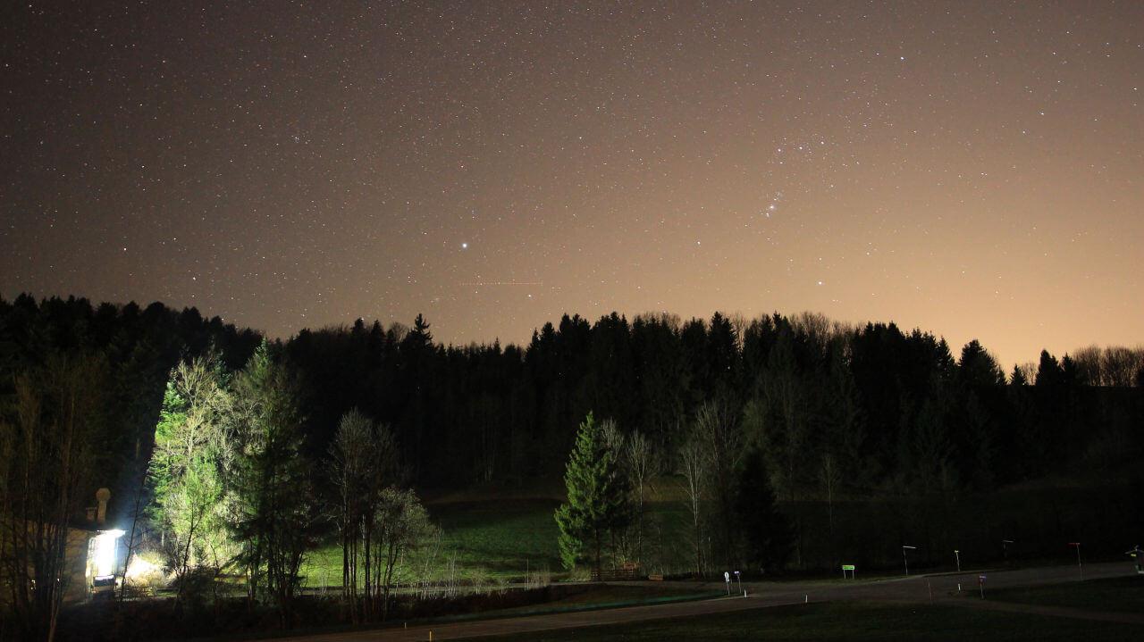 Milchstraße fotografieren - Lichtverschmutzung
