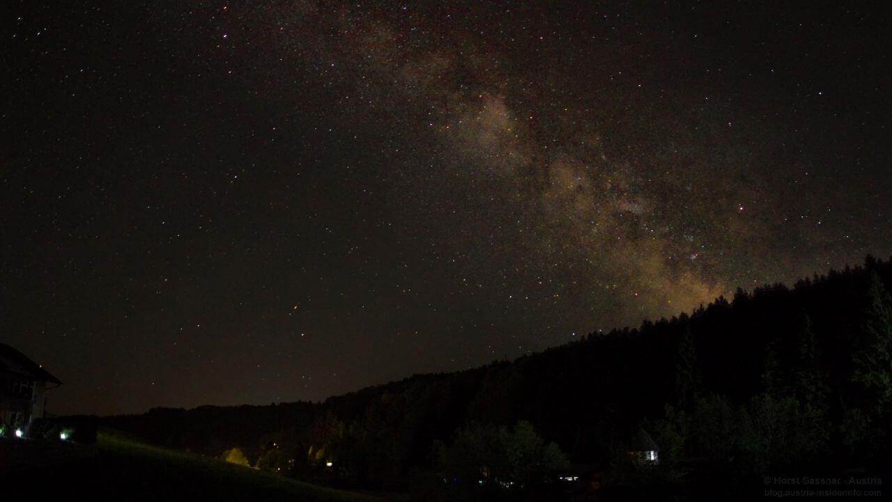 Milchstraße fotografieren - Nachbearbeitung