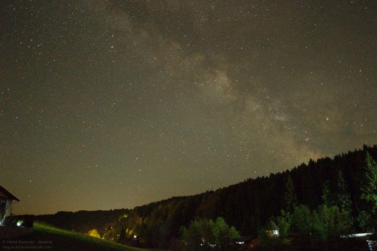 Milchstraße fotografieren - Nachbearbeitung - 2. Versuch