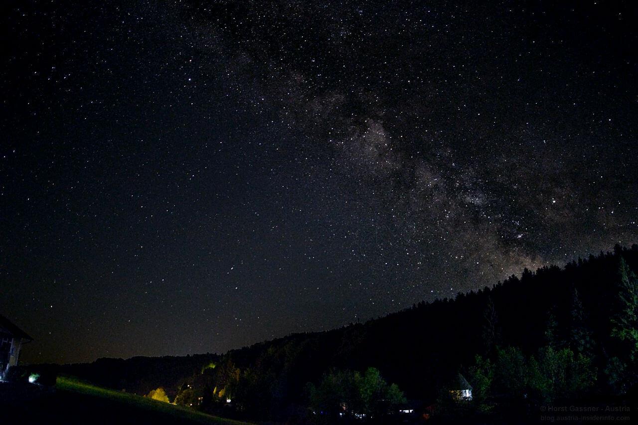 Milchstraße fotografieren - Nachbearbeitung - 2. Versuch - Endergebnis