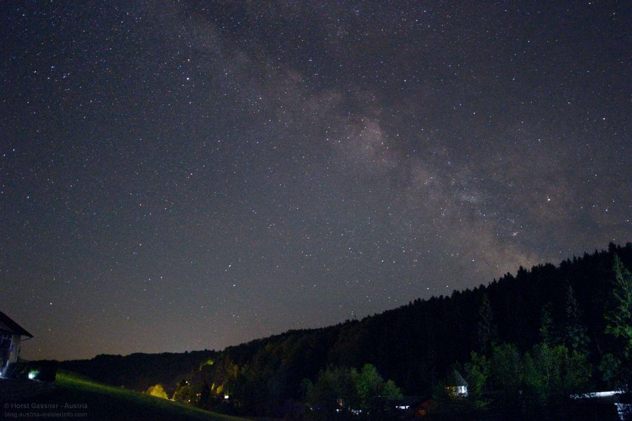 Milchstraße fotografieren - Nachbearbeitung - 2. Versuch - Weißabgleich