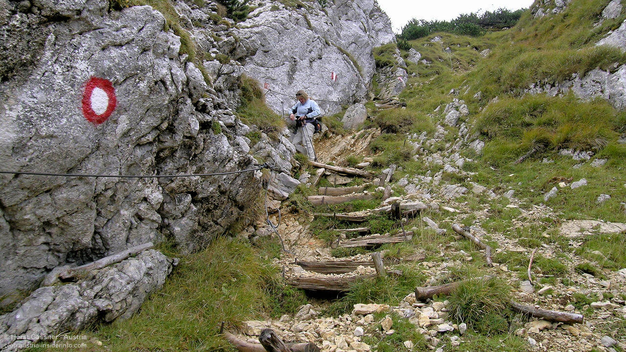 Knieprobleme und Wandern - speziell beim Bergabgehen ein Problem