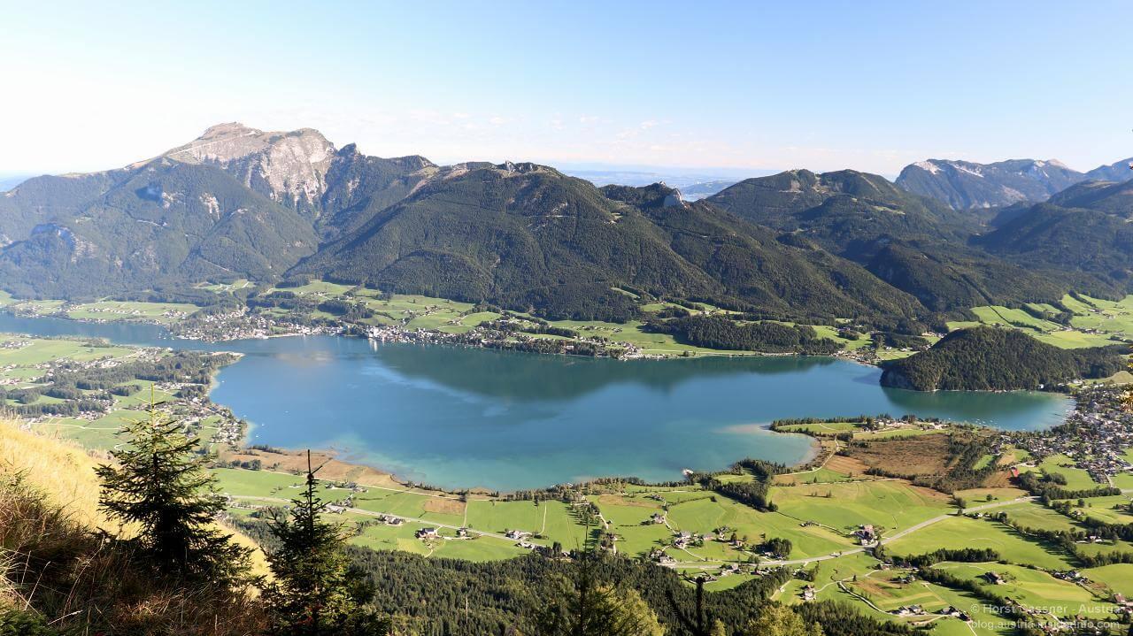 Bleckwand - Blick über den Wolfgangsee