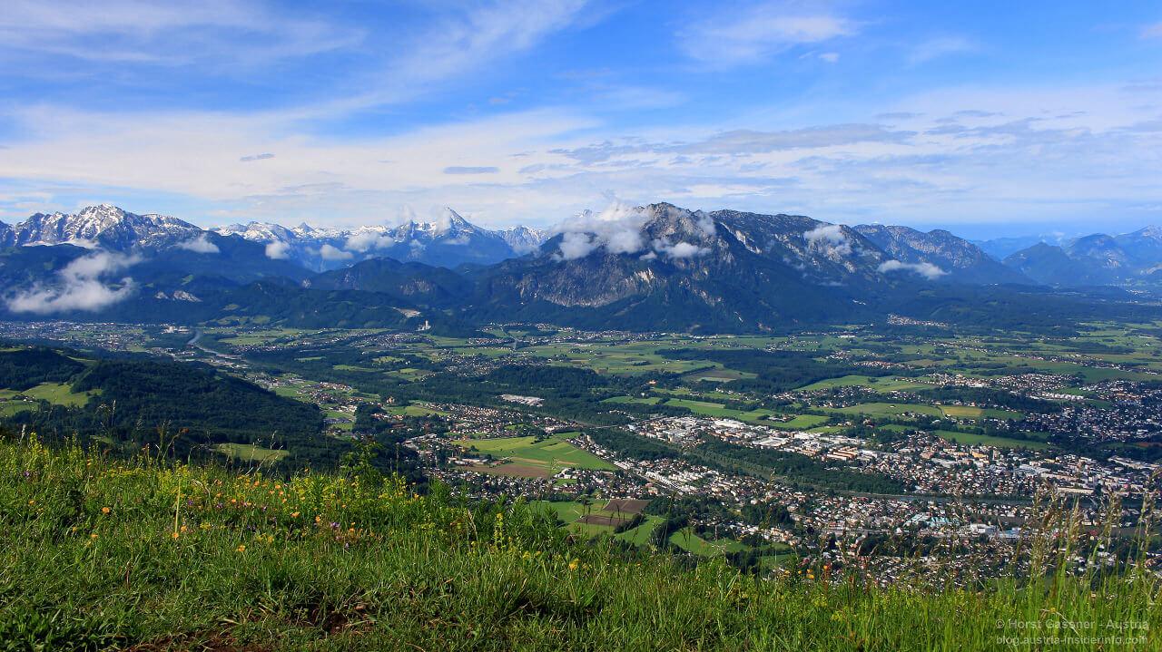 Gaisberg Gipfel - herrlicher Blick nach Salzburg