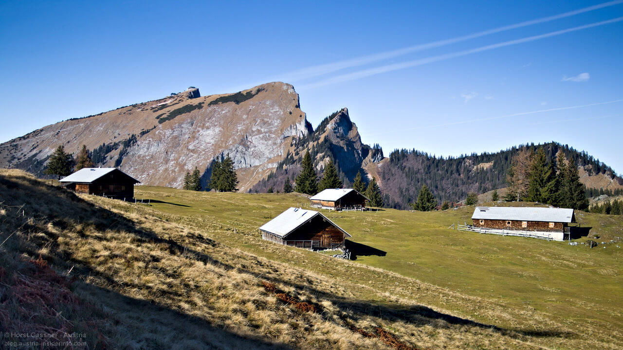 Vormaueralm - Blick zum Schafberg