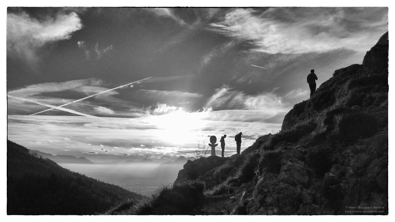 Am Gipfel im Abendlicht