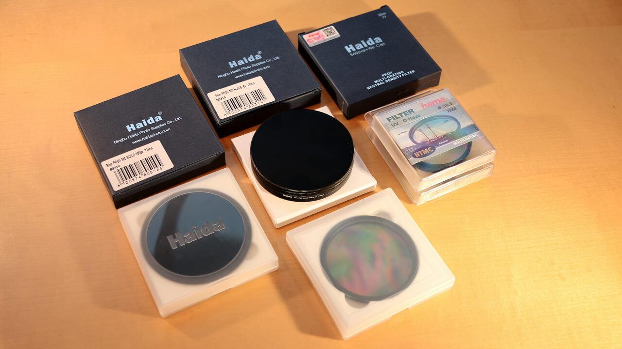 Fotoausrüstung - Filter - Polfilter, UV-Filter, Graufilter