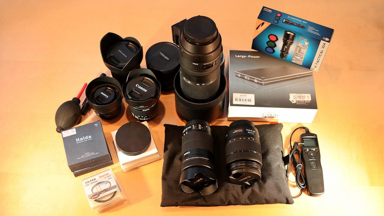 Fotoausrüstung - was man unbedingt braucht