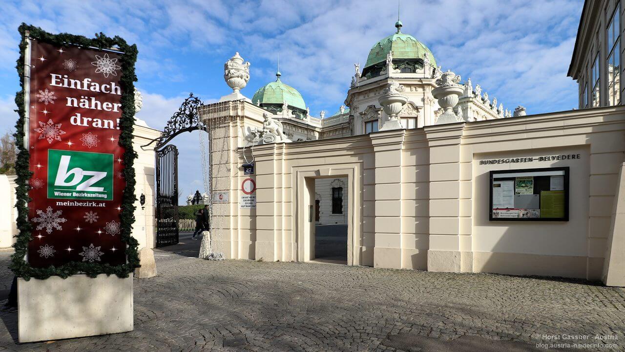 Wien - Am Eingang zum Belvedere