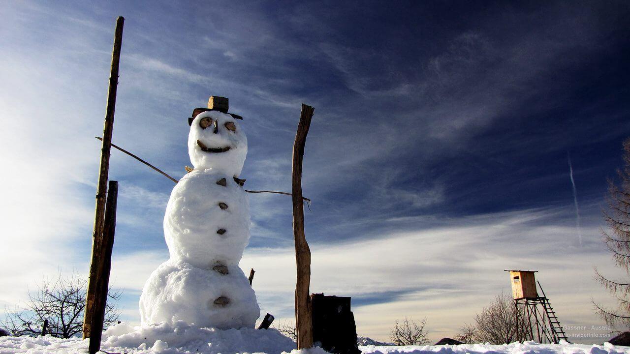 Schneemann auf der Sattelalm