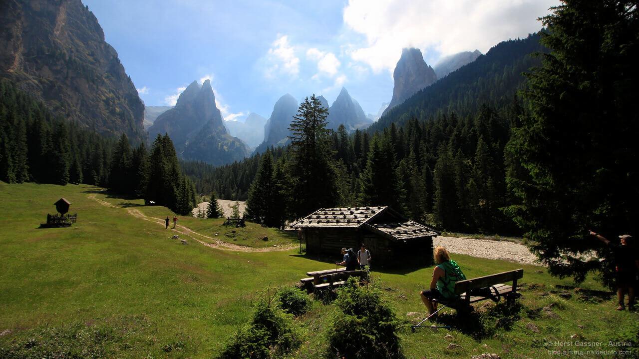 Auf dem Weg zur Grasleitnhütte