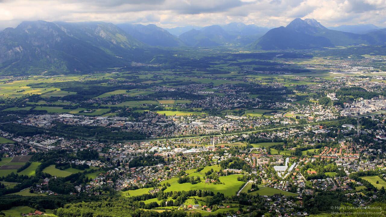 Etikettenschwindel - das Bild stammt vom Gipfel des Gaisberges